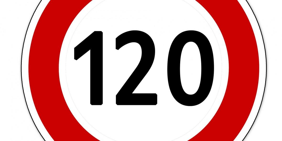 Tempolimit, 120, geradeaus, Rennrad, Runde,